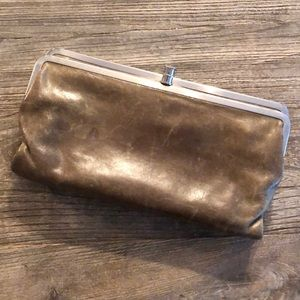 HOBO olive leather wallet